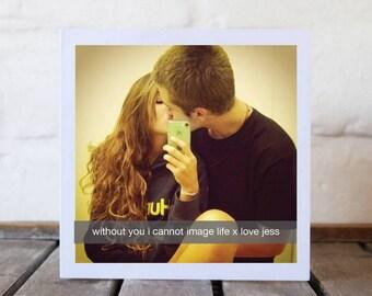 Snapchat Photo Couple Love Card