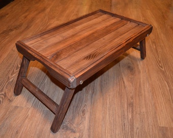 Brown  Wooden Lap top Tray / lap top Table / Breakfast in bed tray