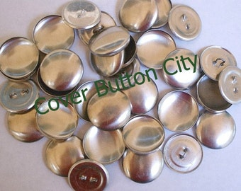 25 Cover Buttons Size 36 (7/8 inch) -  Wire Backs