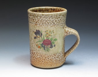 Monroe Salt Works Mug, Salt Fired Stoneware Mug, Studio Pottery