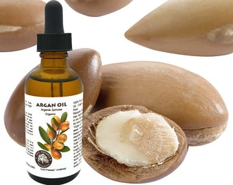 Argan Oil - Organic,  Virgin, Cold Pressed, Unrefined) 0.5 oz, 1 oz, 2 oz or 4 oz