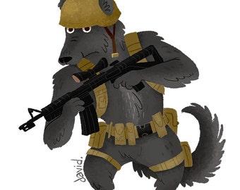Soldier Shepherd - 8.5 x 11