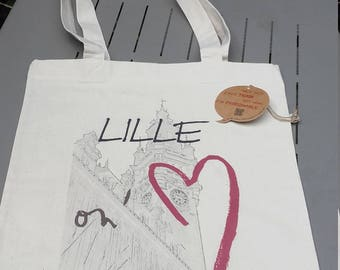 """Tote Bag """"Lille on'M®"""", Belfry"""