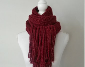 Scarf woman, girl, knitted scarf - cowl hand knitted scarf - handmade pure wool, wool neck warmer