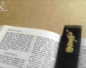 Miniature Angel Moroni Cross Stitch Pattern - Perfect for Bookmarks - Instant Download