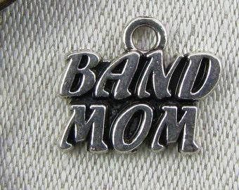 1 or 6, Band Mom, Band Mom Charm, Marching Band, Band Charm, Music Charm, Music Pendant, Silver Band Charms, ART022
