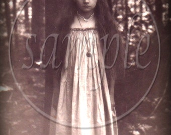 Digital Collage Sheet instant Digital Download The Real Alice in Wonderland Ghost Girl Vintage photograph Beautiful Little Girl ghost Gothic
