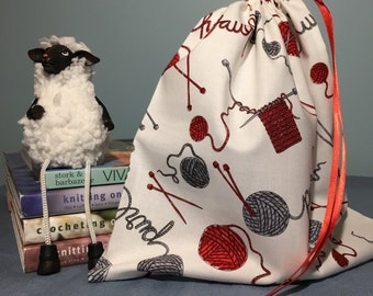 Sock Knitting Project Bag