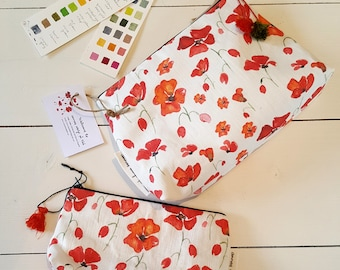 Beautiful Floral design Toiletry bag Cosmetic bag Studio Pouch Travel bag