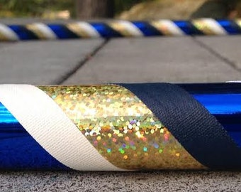 Collapsible Hula Hoop- Blue, gold, and white
