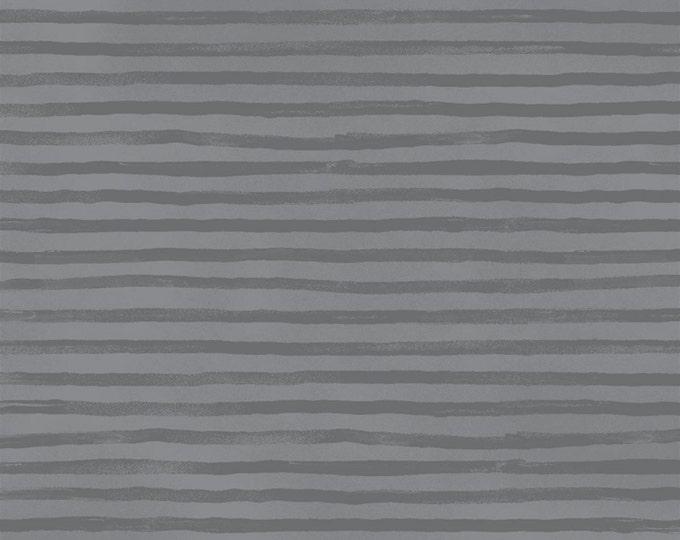 Hotdogs & Cool Cats by Windham - Grey Stripe - Organic Cotton Woven Fabric