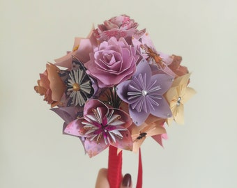 Origami/paper flower bouquet
