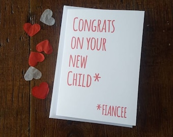 Congrats on your new child - engagement card
