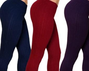women leggins burgundy color
