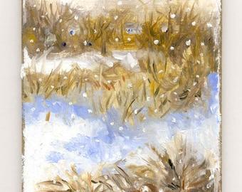 Winter Scene III Original Oil Painting