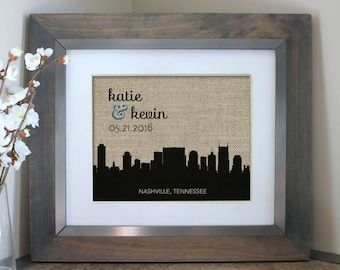 Personalized Wedding Gifts for Couples | Choose A City Skyline | Wedding Gift | Engagement Gift | Husband Gift Boyfriend Gift for Boyfriend