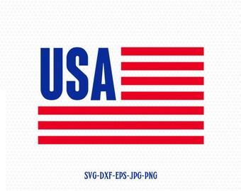 usa flag svg, usa svg, Fourth of July SVG, 4th of July Svg, Patriotic SVG, America Svg, Cricut, Silhouette Cut File, svg dxf eps