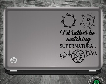 I'd Rather Be Watching Supernatural Decal