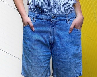 Vintage 1980's Levis High Waisted Light Wash Denim Shorts