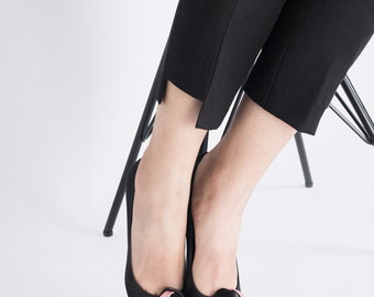 Sheep leather Catherine H Shoes Rose Satin Pumps