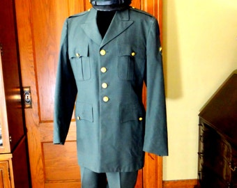 Vintage Army Uniform with WWII Patches