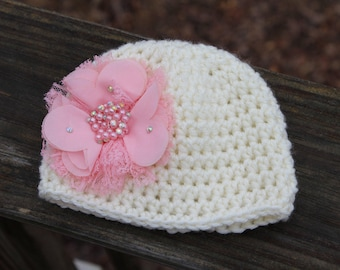 Crochet baby hat, Newborn photo prop, infant hat, crochet photo prop hat, take home outfit, Baby girl hat, baby shower gift, baby hat