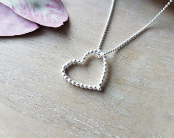 Necklace Heart 925 silver ball necklace