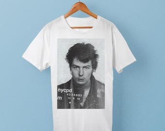 Sid Vicious Mugshot T-Shirt