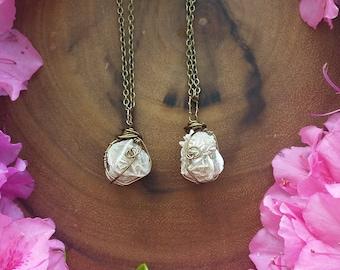 desert rose, crystal, raw, desert rose necklace, Selenite, Rose , healing, stone, rock, jewelry, gift, birthstone, desert rock, bohemian