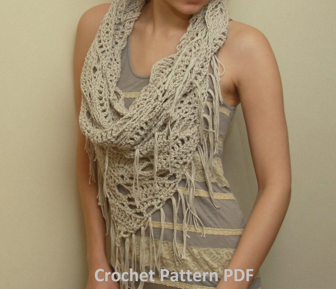 Crochet cowl pattern pdf triangle cowl electronic pdf file this is a digital file baditri Images