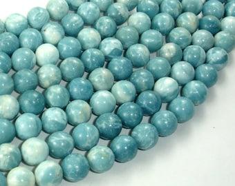 Larimar Quartz, 10mm Round Beads, 15.5 Inch, Full strand, Approx 40 beads, Hole 1mm (301054003)