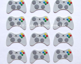 Fondant Cupcake Toppers - Video Game Controller