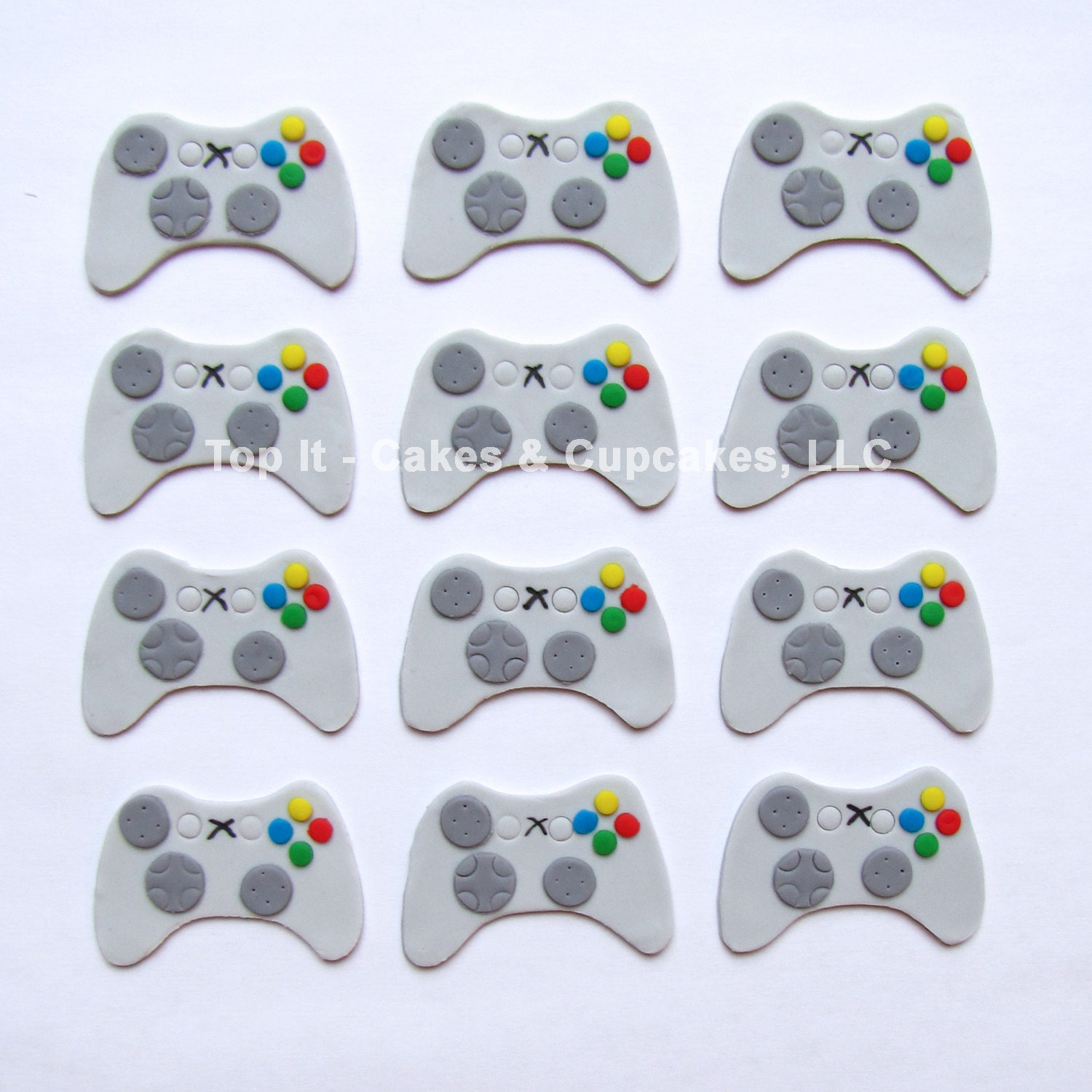 Fondant Cupcake Toppers Video Game Controller