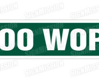DOO WOP Street Sign rhythm and blues music doo-wop lover