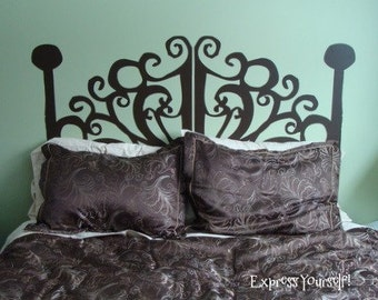 Twin Size Wrought Iron looking Vinyl Head Board