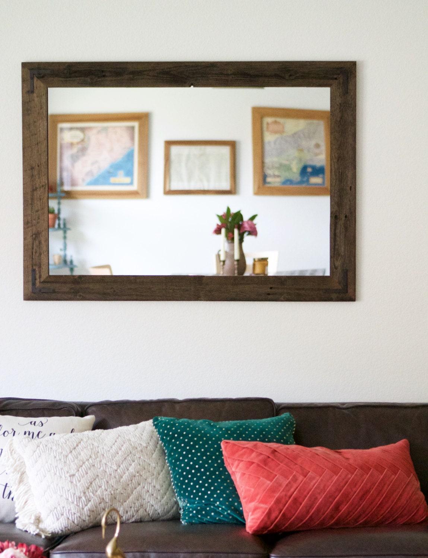 Large Wall Mirror Large Wood Framed Mirror Large Bathroom