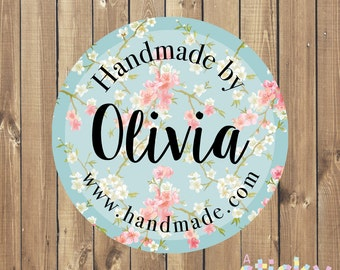 Personalized Handmade by Stickers, Handmade Labels, Packaging Stickers, Packaging Labels, Packaging Tags, Custom Stickers, Craft Supplies