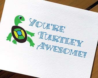 Cute Turtle Funny Valentine Card