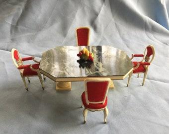 Dollhouse Table,Doll Dining Table,Doll Furniture Table,Miniature Doll Table,Ideal Table,Doll House Table,Doll Table Chair,Doll Dining Room