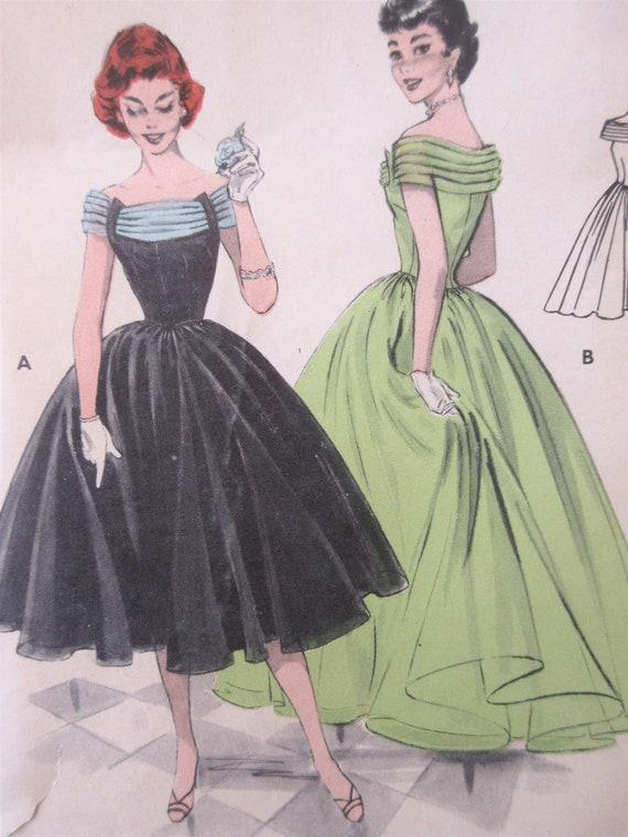 Jahrgang Butt 7206 nähen formelle Kleidung Muster 1950er