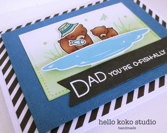 Handmade Father's Day - Male Birthday Card - O'fishally Awesome