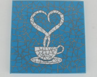 Coffee Mosaic Art Wall Hanging