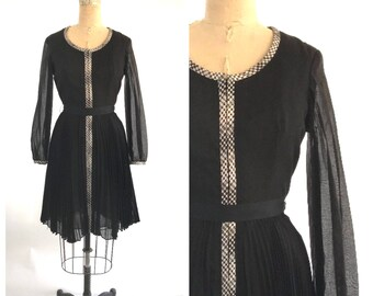 50s black and white dress | vintage black and white dress | 1950s dress