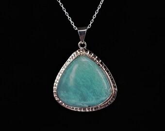 Amazonite Stone Pendant Natural & Handmade