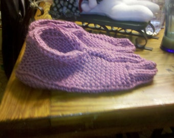 Knit women's slippers 9-10