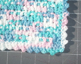 handmade cotton crochet washcloth dishcloth  --1263