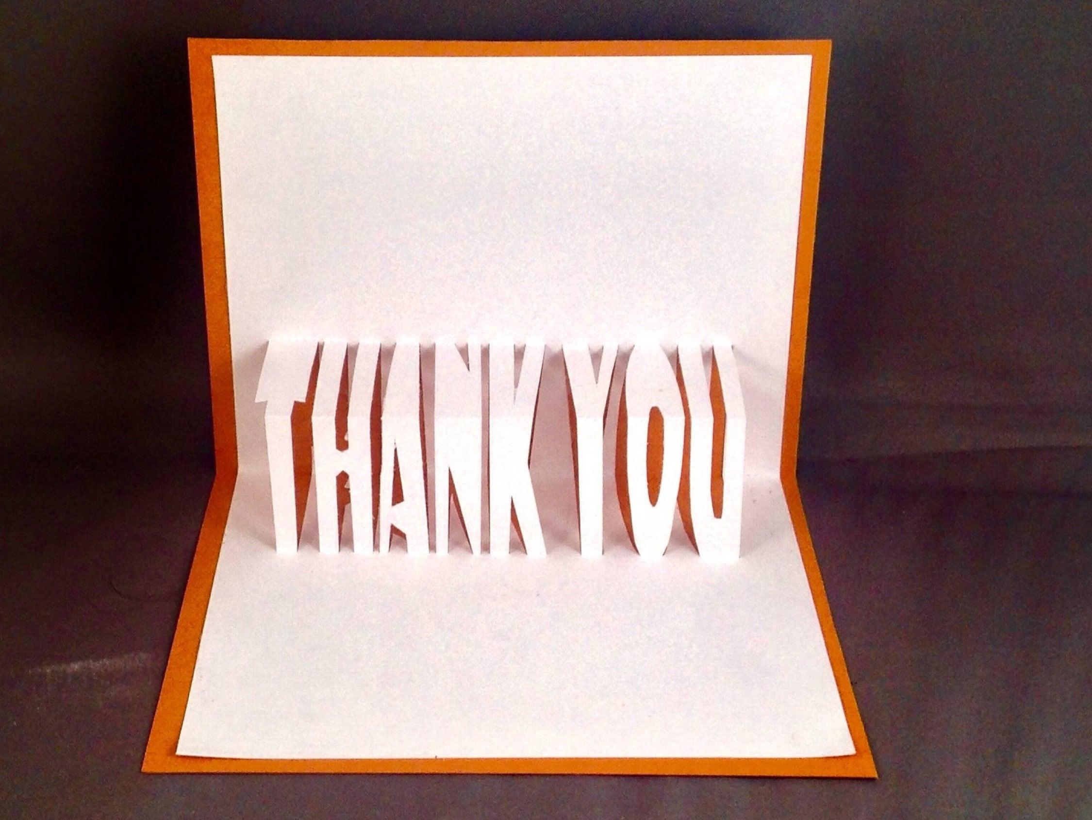 Superb Kirigami Thank You Card Set Or Appreciation Card | Thank You Very Much | Thank  You Gift Ideas | Baby Thank You Notes | Thank You Card Ideas