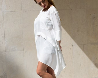 White Dress, Summer Dress, Beach Wedding Dress, Plus Size Dress, Short White Dress, Open Back Dress, Party Dress, Short Beach Dress