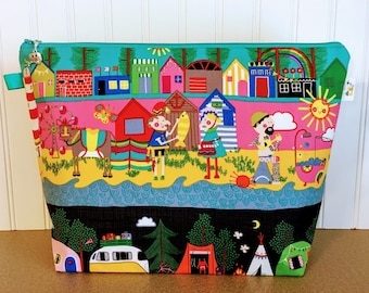 Summer scenes Knitting Project Bag - Large / Sweater Size