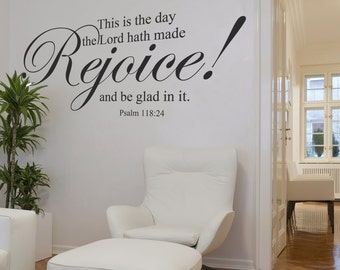 This is the day the Lord has made Psalm 118:24 Vinyl Sign Wall Decal Religious Vinyl quotes Bible Verse- 103